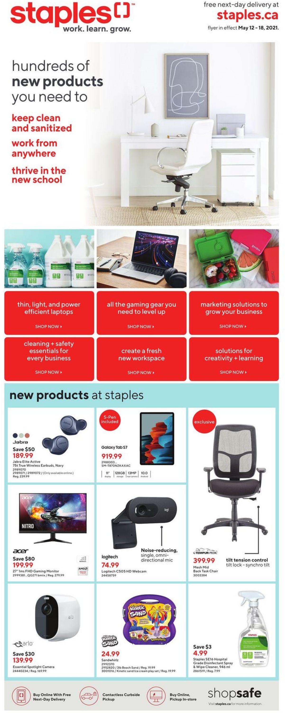Staples Flyer - 05/12-05/18/2021