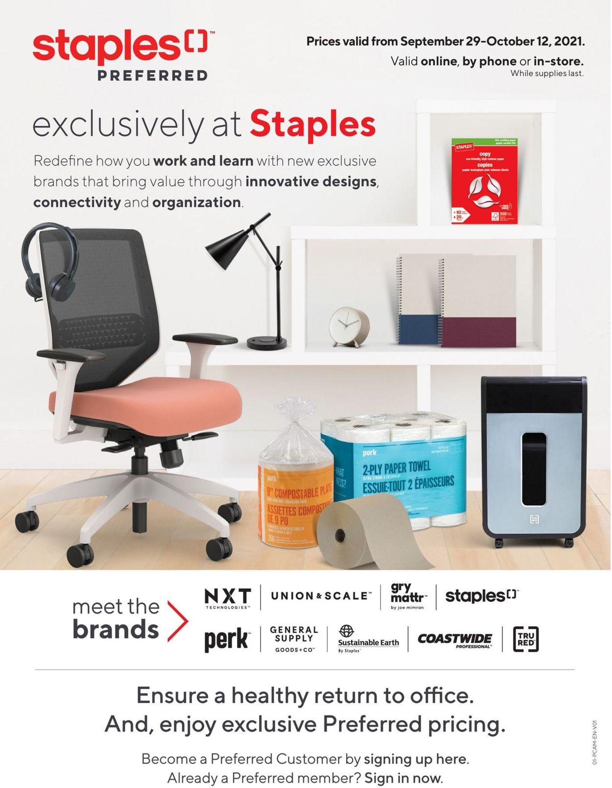 Staples Flyer - 09/29-10/12/2021