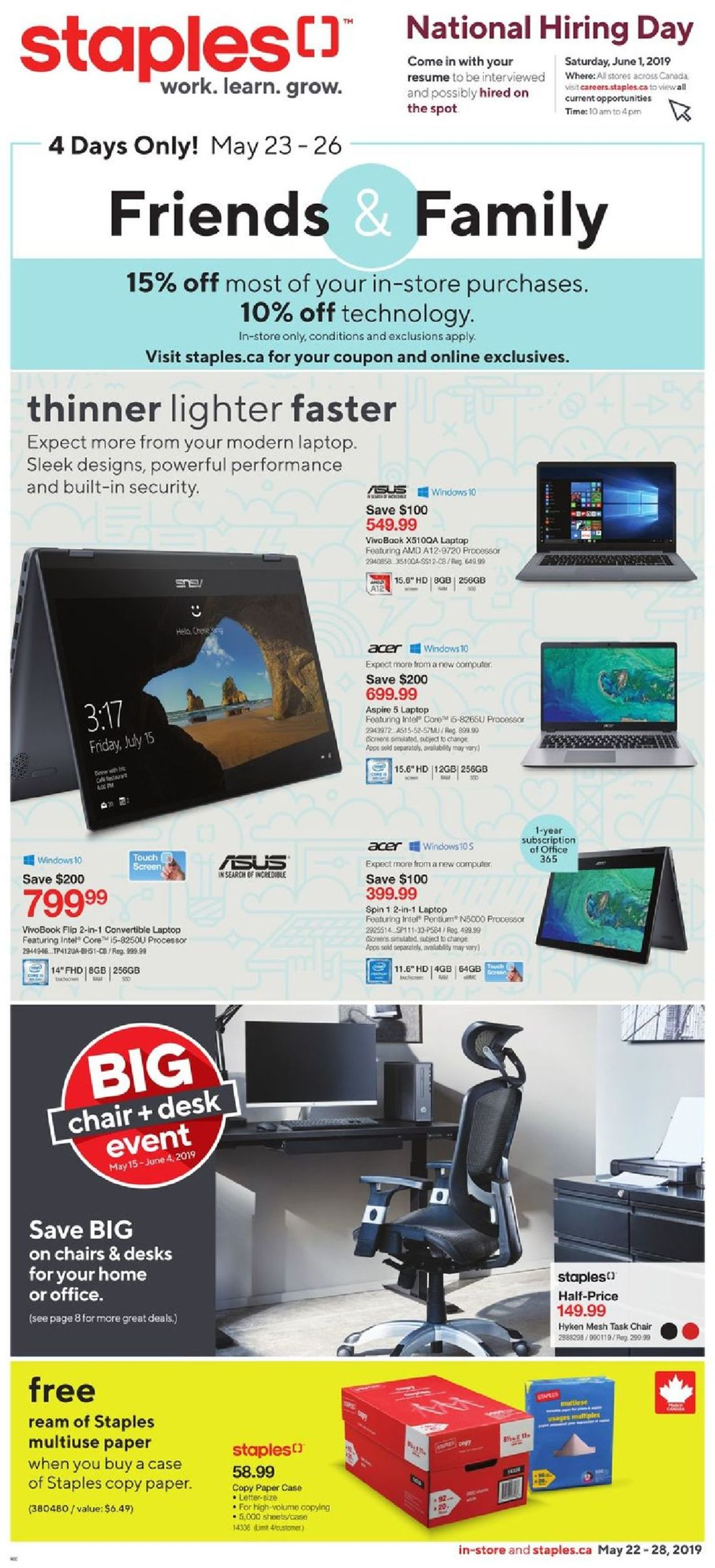 Staples Flyer - 05/22-05/28/2019