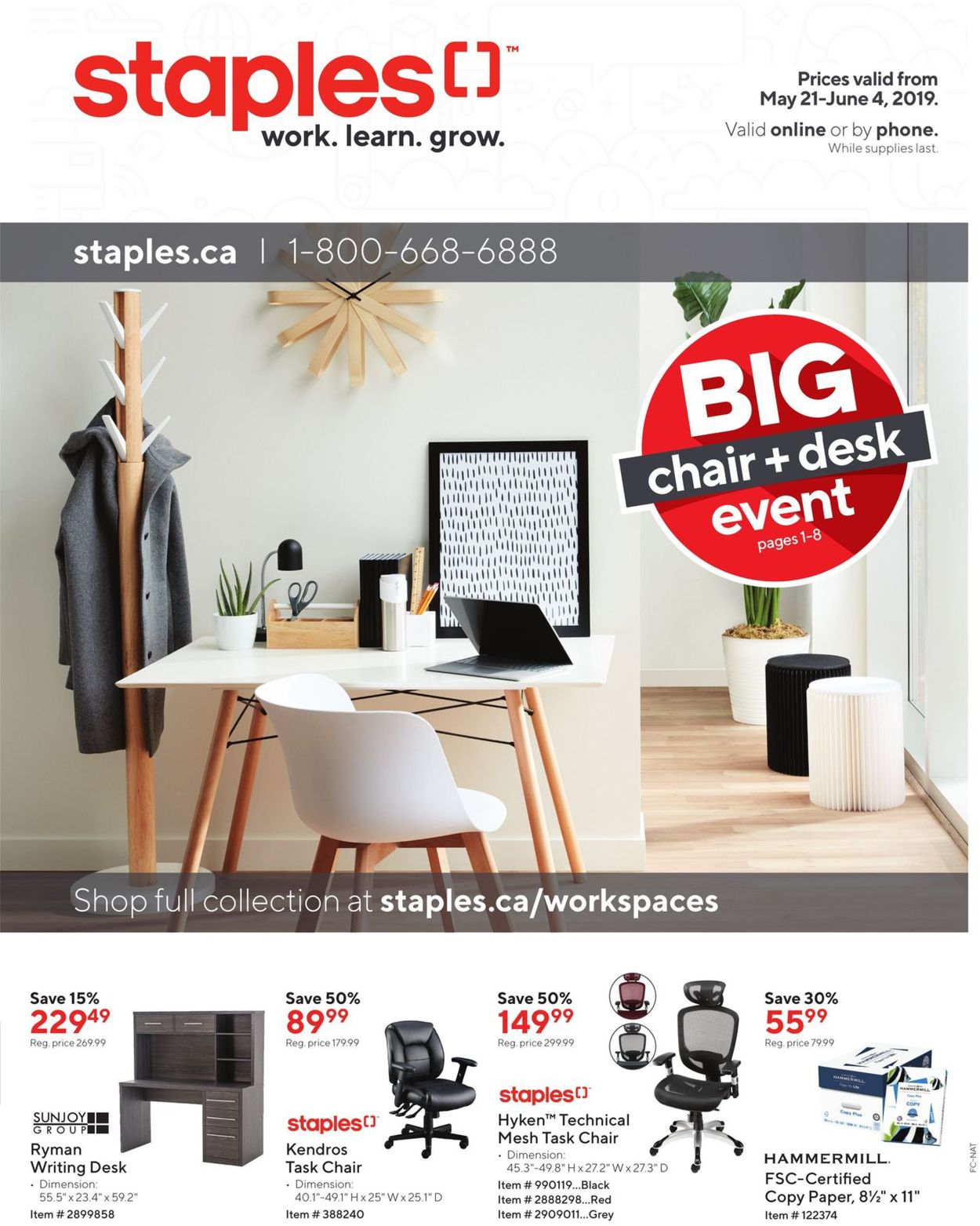 Staples Flyer - 05/21-06/04/2019