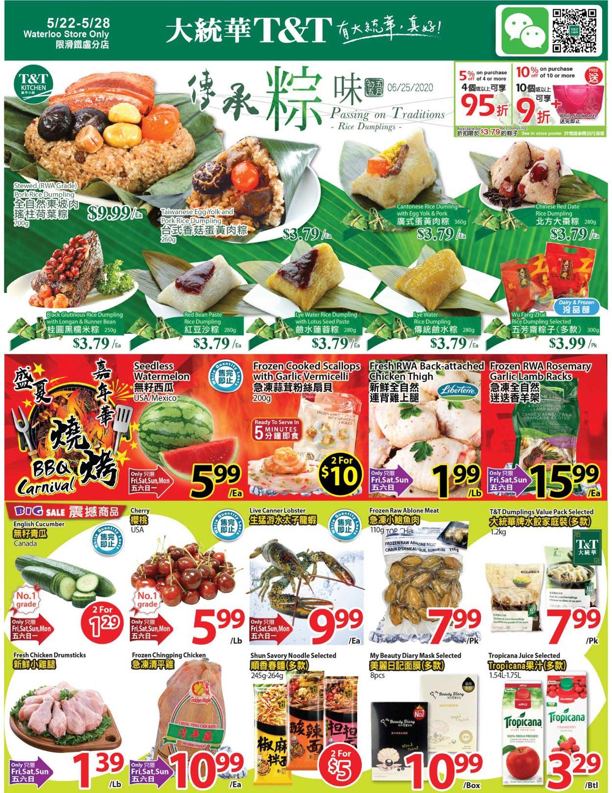 T&T Supermarket Flyer - 05/22-05/28/2020