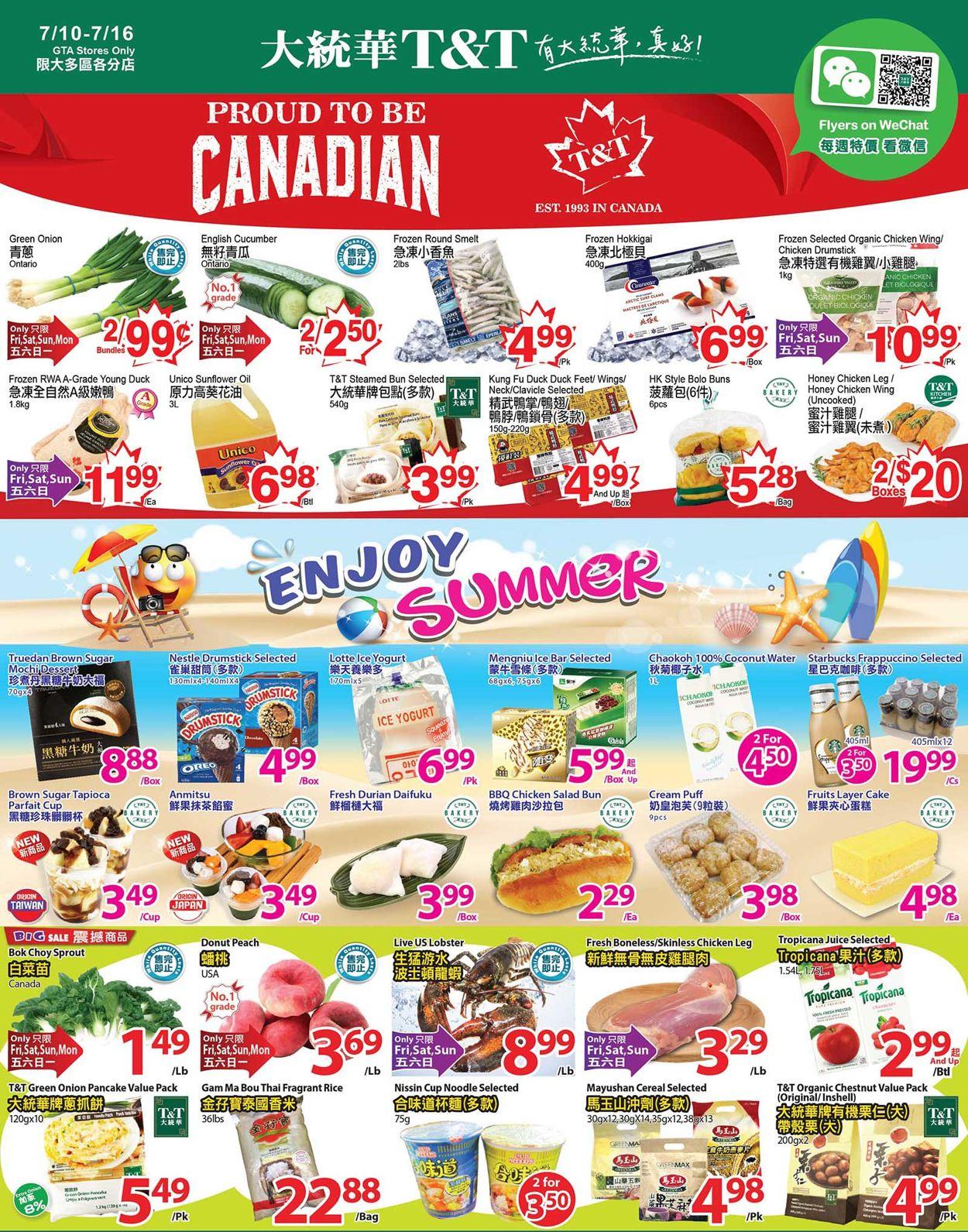 T&T Supermarket Flyer - 07/10-07/16/2020