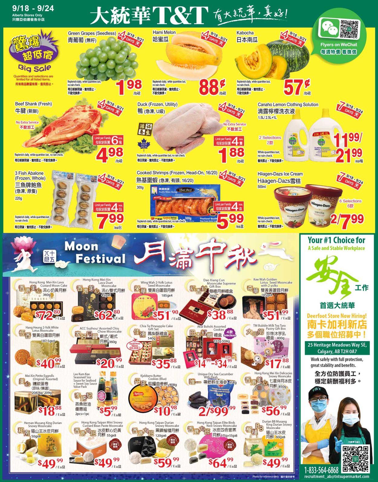 T&T Supermarket Flyer - 09/18-09/24/2020