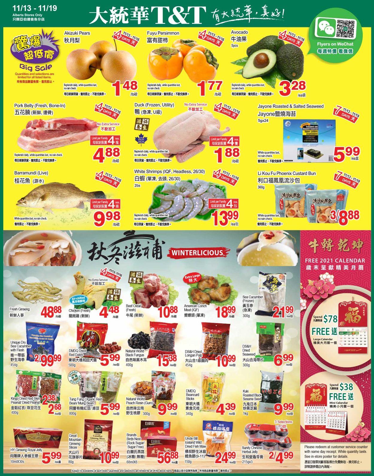 T&T Supermarket - Alberta Flyer - 11/13-11/19/2020