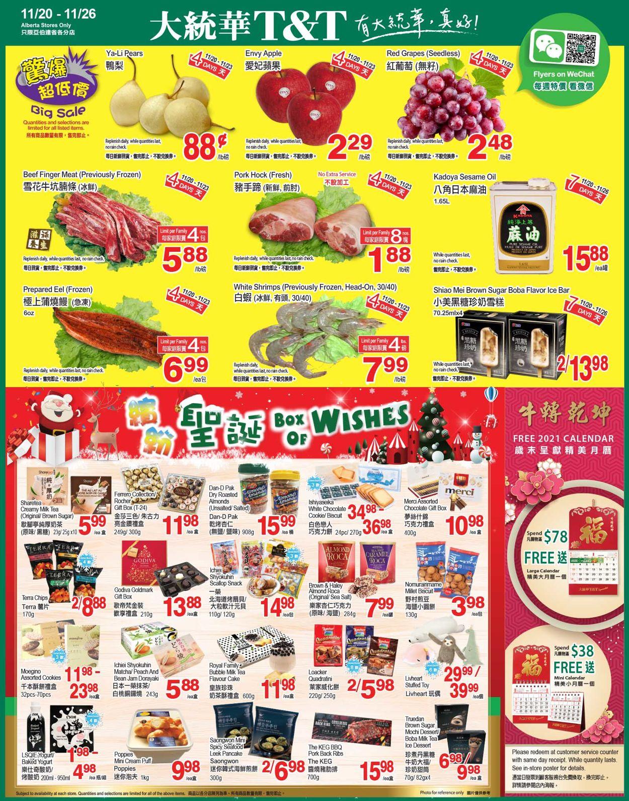 T&T Supermarket Alberta Black Friday 2020 - Alberta Flyer - 11/20-11/26/2020