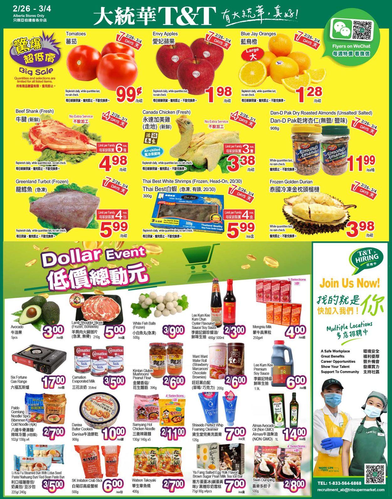 T&T Supermarket - Alberta Flyer - 02/26-03/04/2021