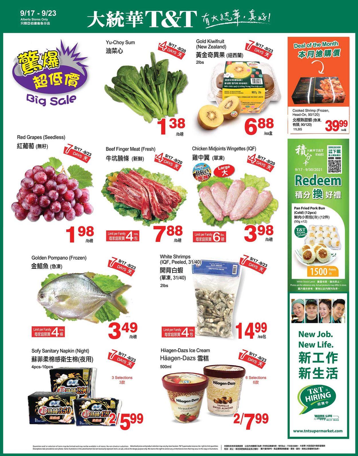 T&T Supermarket - Alberta Flyer - 09/17-09/23/2021