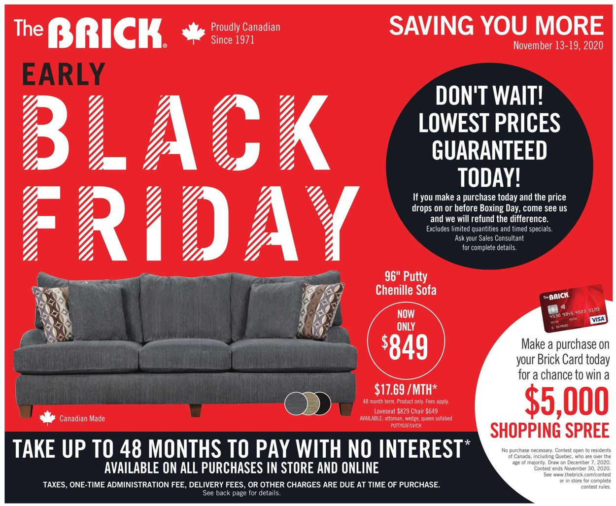 The Brick - Black Friday 2020 Flyer - 11/13-11/19/2020