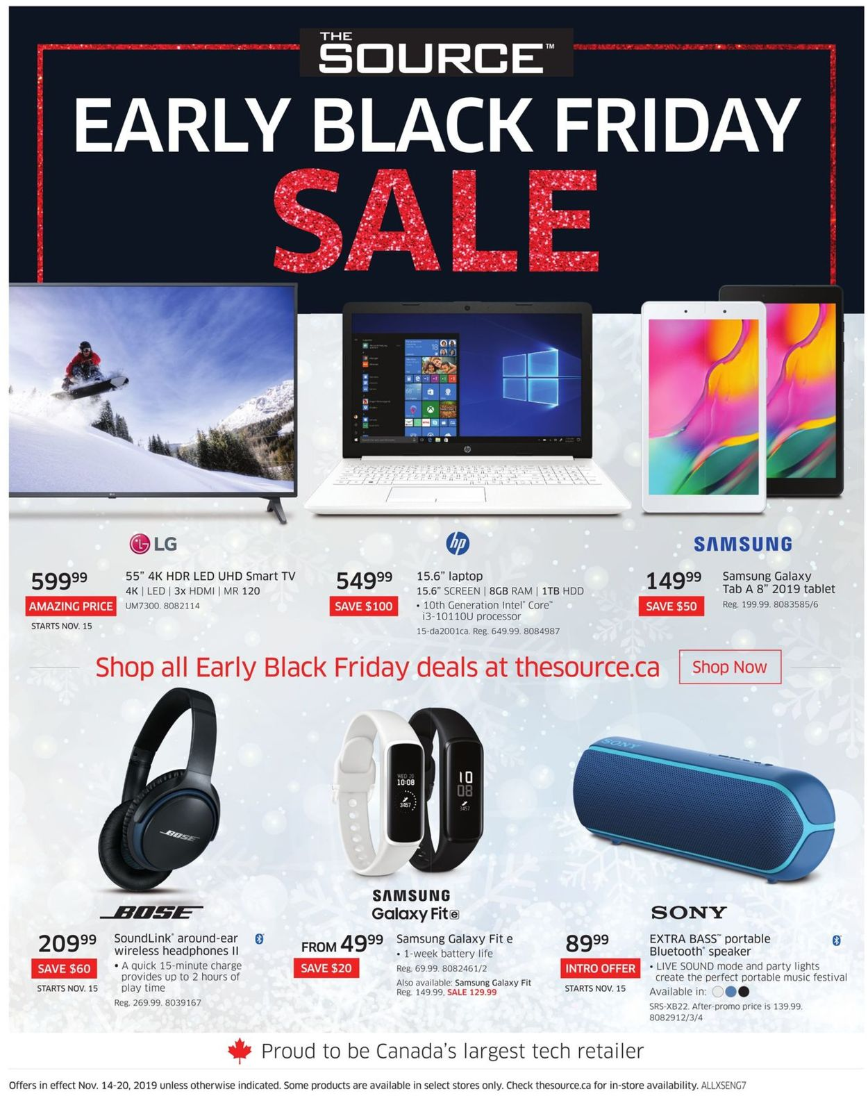 The Source EARLY BLACK FRIDAY 2019 SALE Flyer - 11/14-11/20/2019