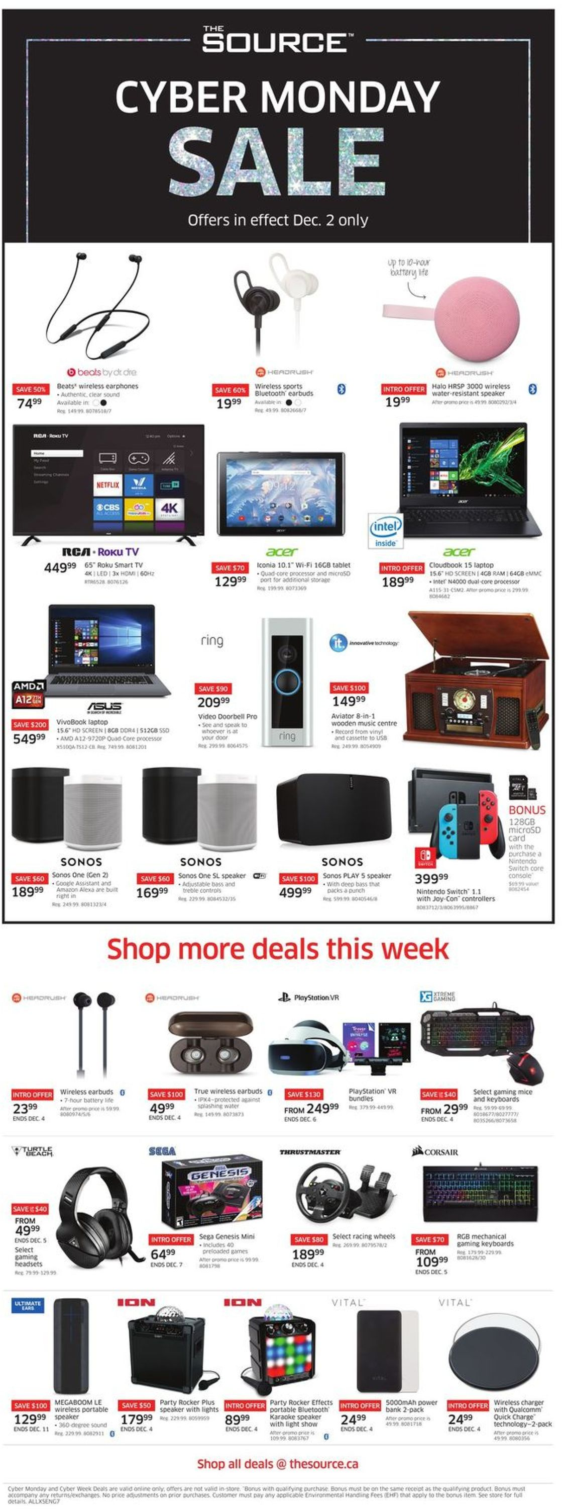The Source CYBER MONDAY 2019 Flyer - 12/02-12/04/2019