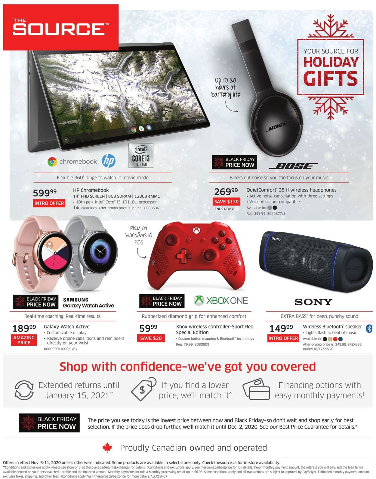 The Source - Holiday Gifts 2020 Flyer - 11/05-11/11/2020