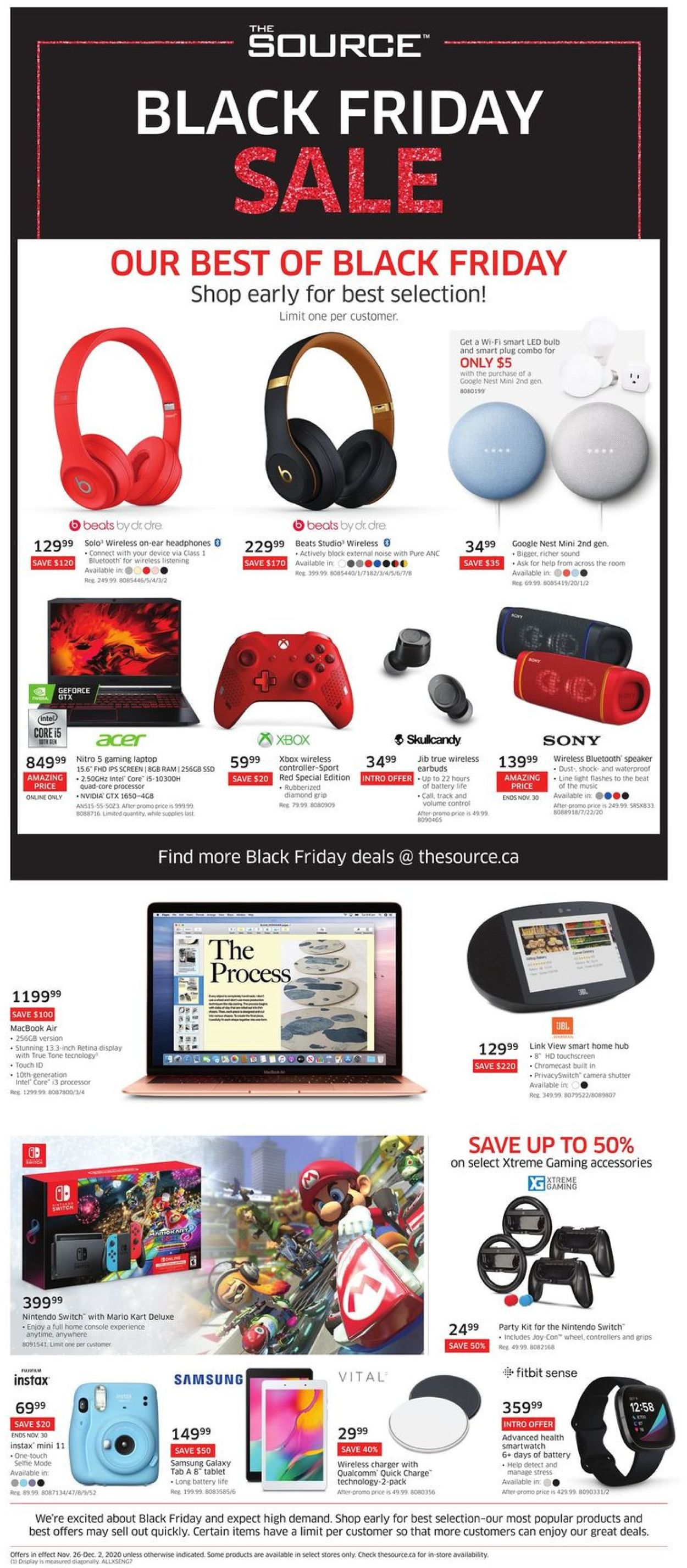 The Source Black Friday 2020 Flyer - 11/26-12/02/2020