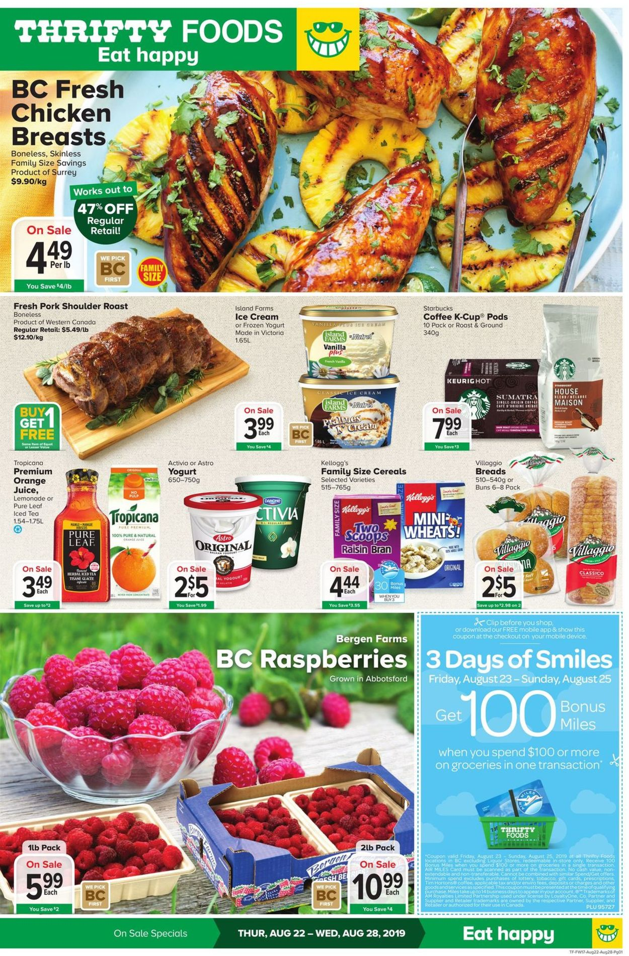 Thrifty Foods Flyer - 08/22-08/28/2019