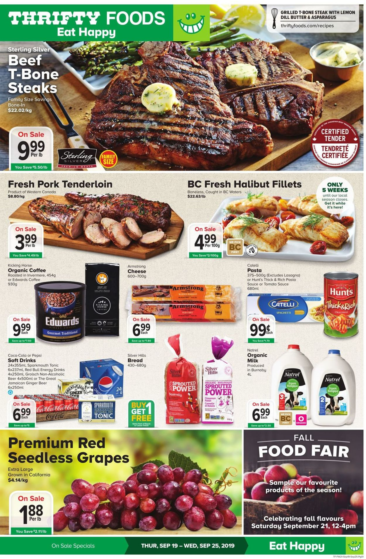 Thrifty Foods Flyer - 09/19-09/25/2019