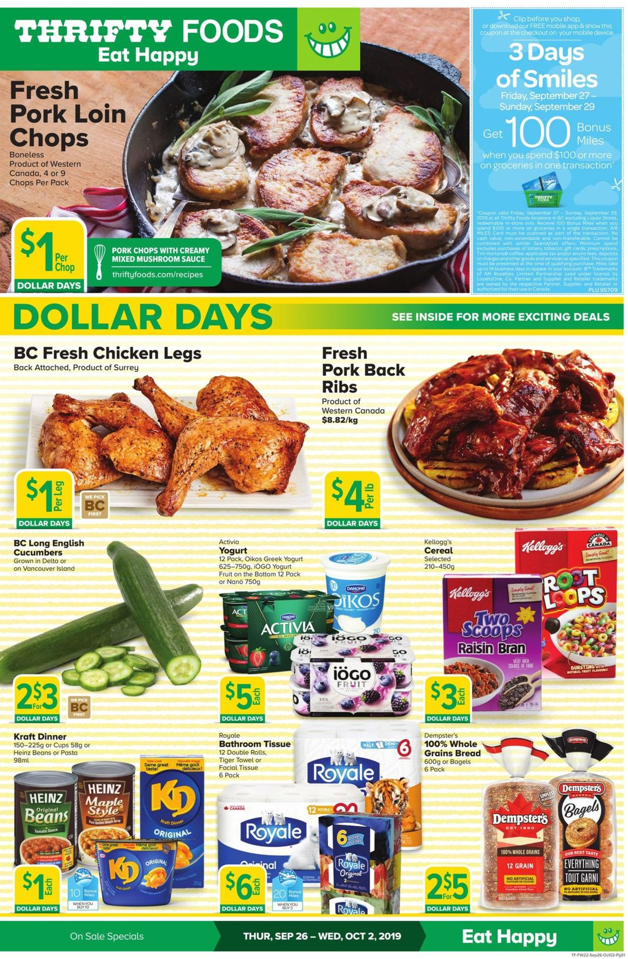 Thrifty Foods Flyer - 09/26-10/02/2019