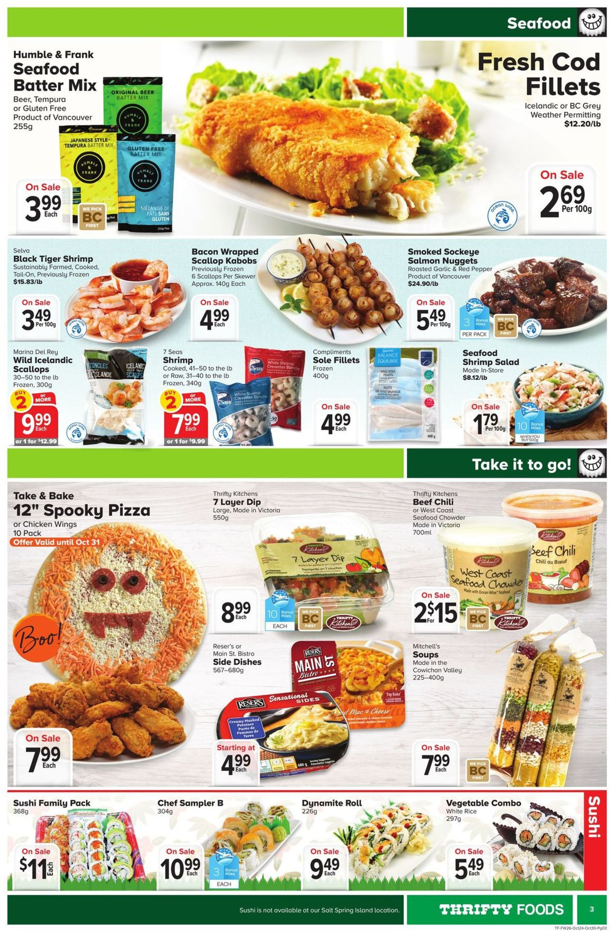 Thrifty Foods Flyer - 10/24-10/30/2019 (Page 3)