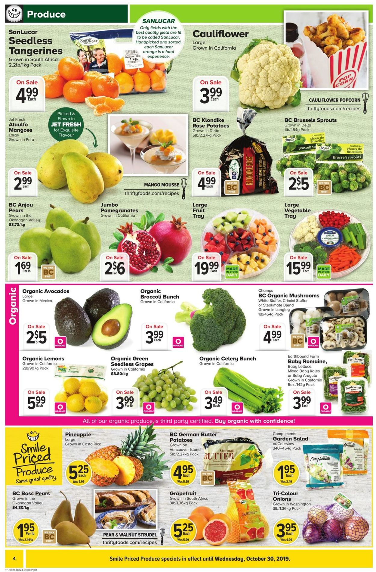 Thrifty Foods Flyer - 10/24-10/30/2019 (Page 4)