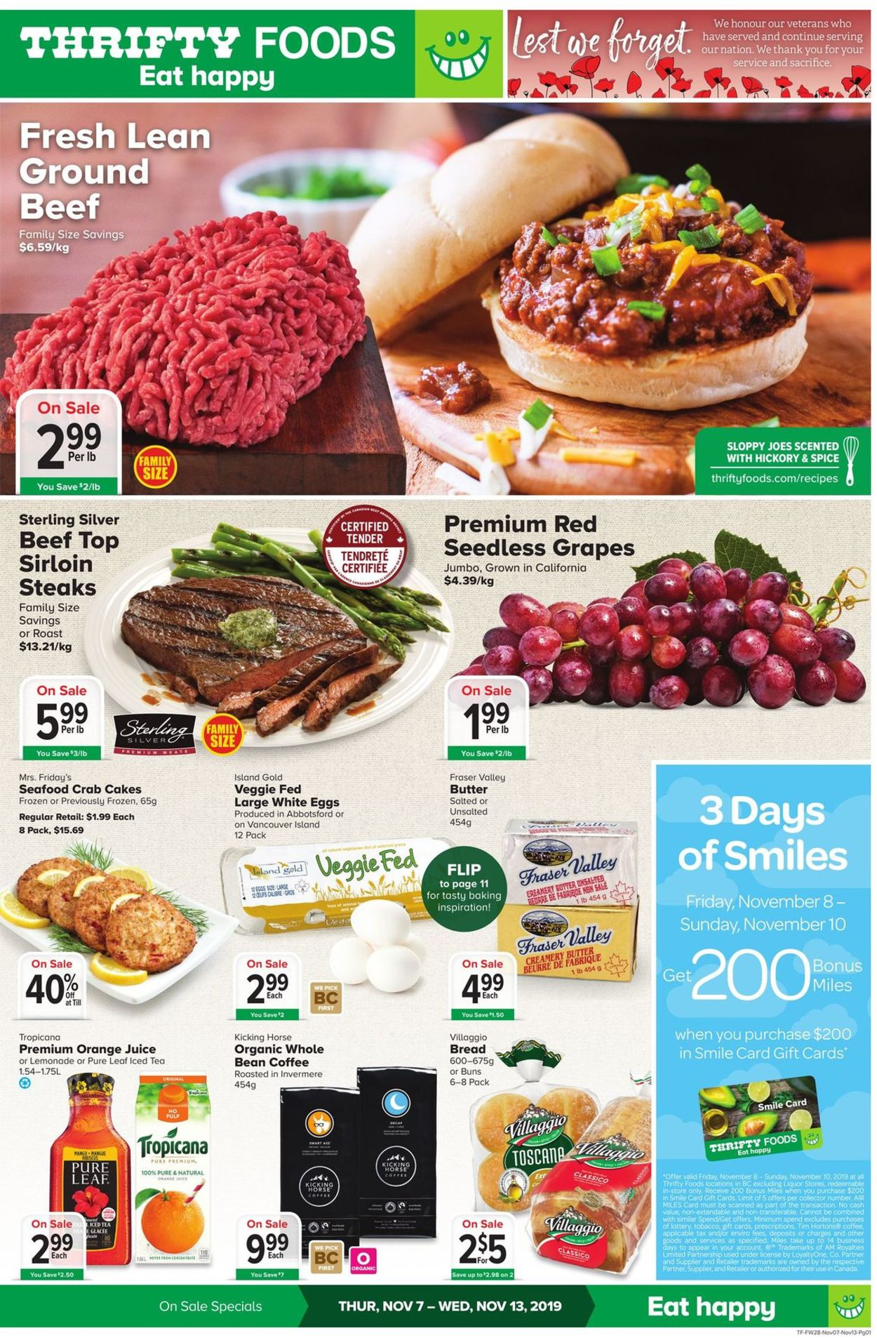 Thrifty Foods Flyer - 11/07-11/13/2019