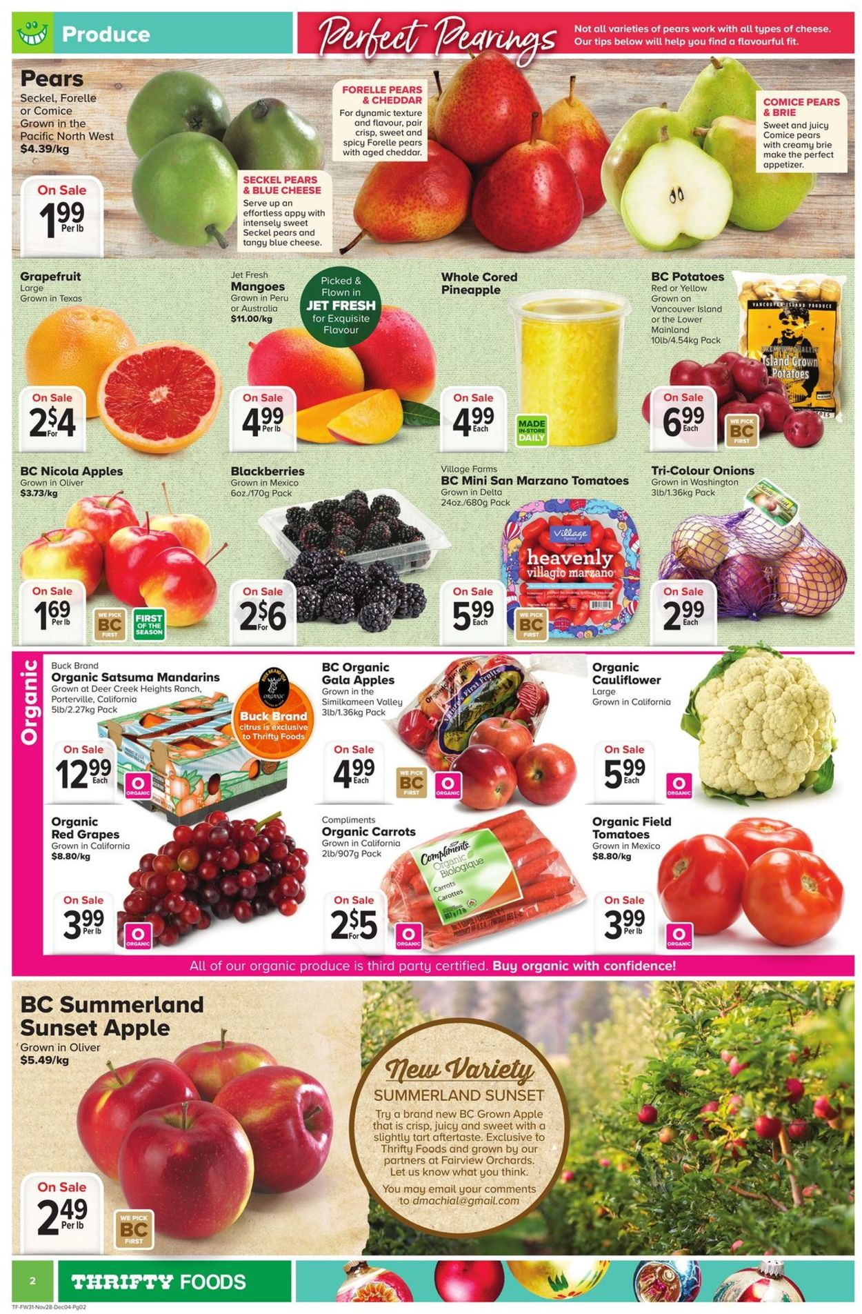 Thrifty Foods Flyer - 11/28-12/04/2019