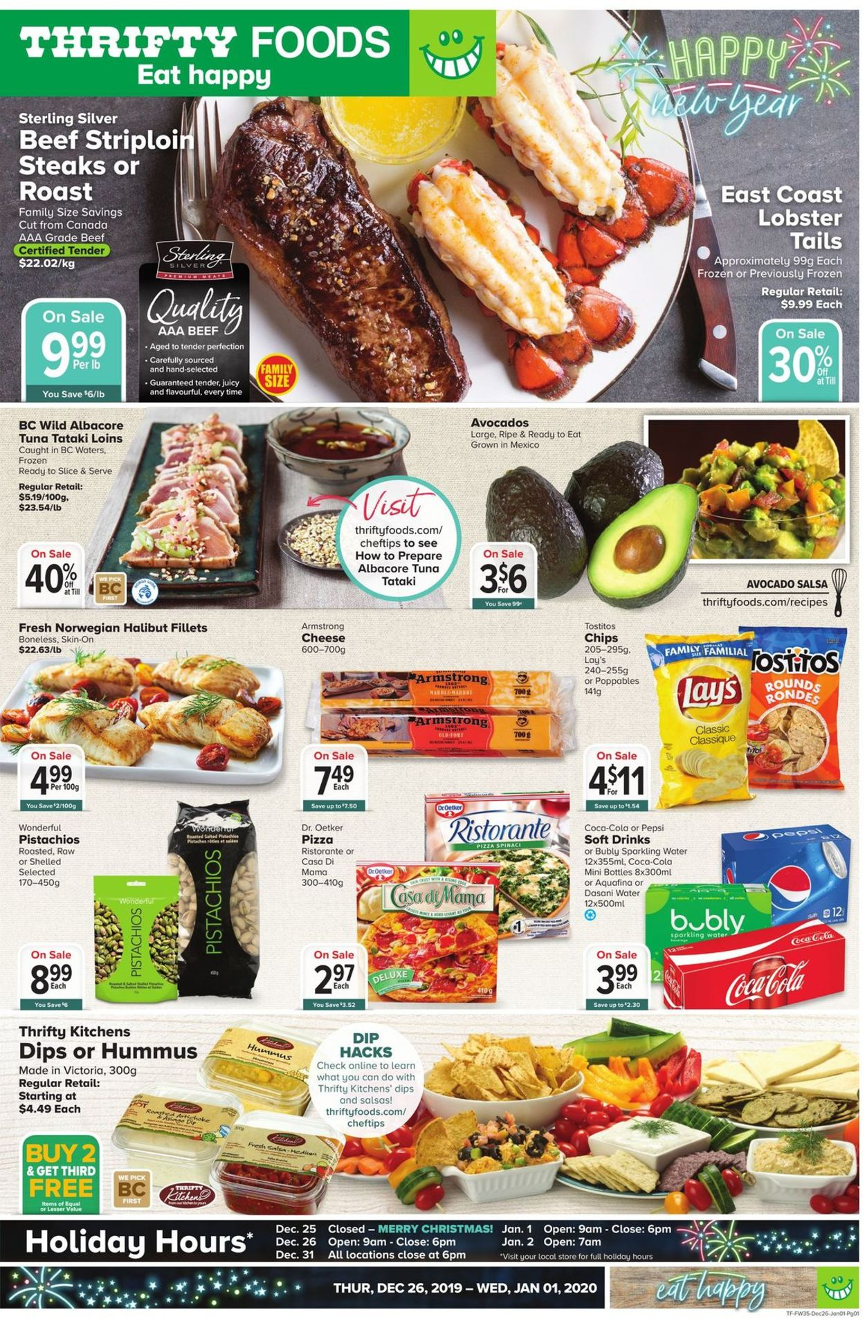 Thrifty Foods Flyer - 12/26-01/01/2020