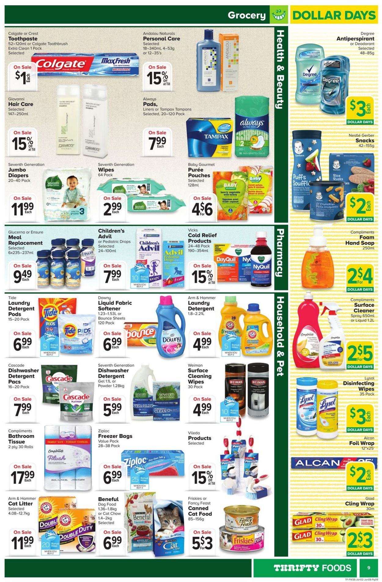 Thrifty Foods Flyer - 01/02-01/08/2020 (Page 9)