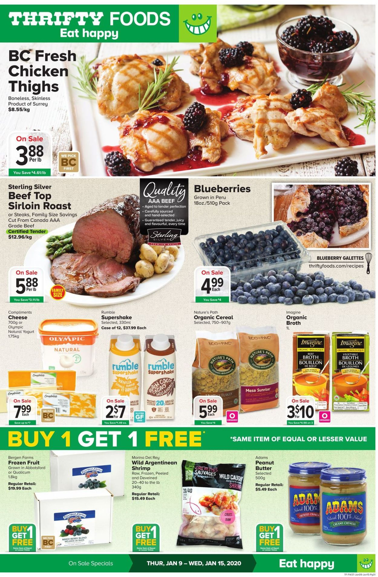 Thrifty Foods Flyer - 01/09-01/15/2020