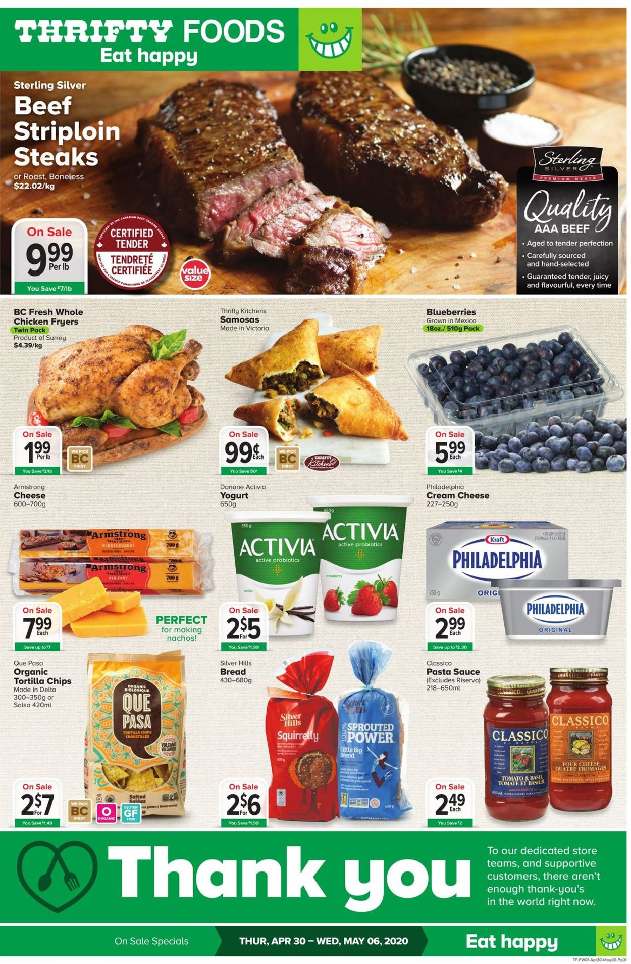 Thrifty Foods Flyer - 04/30-05/06/2020