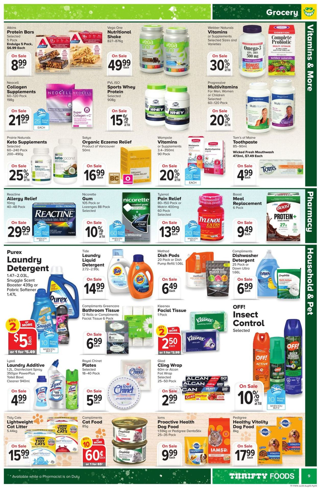 Thrifty Foods Flyer - 07/30-08/05/2020 (Page 9)