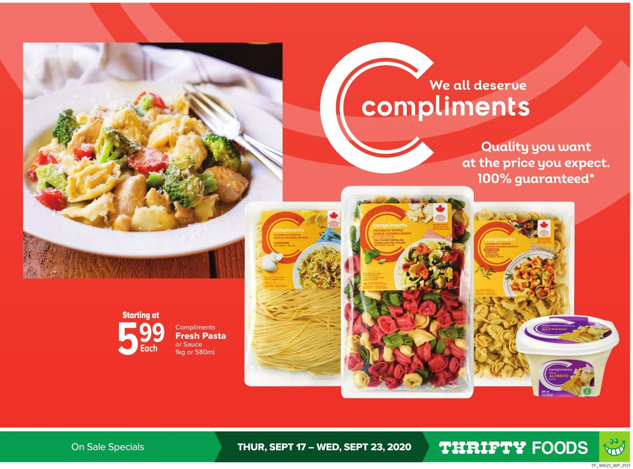 Thrifty Foods Flyer - 09/17-09/23/2020