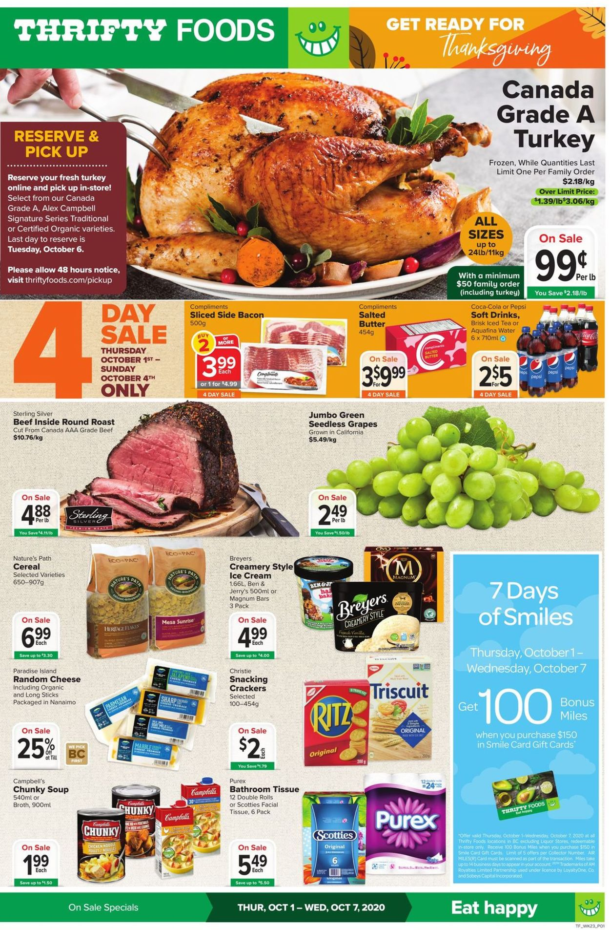 Thrifty Foods Flyer - 10/01-10/07/2020