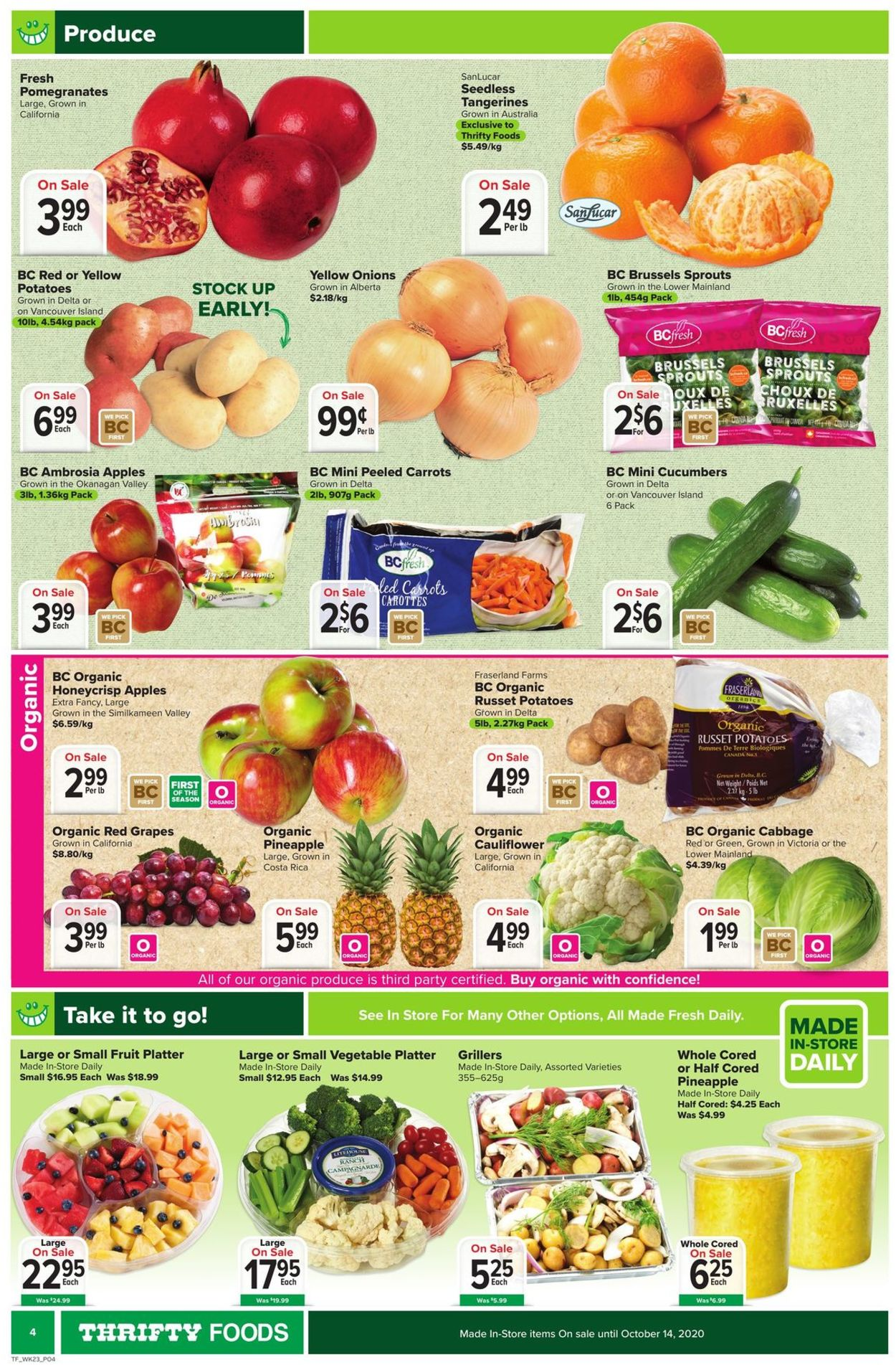 Thrifty Foods Flyer - 10/01-10/07/2020 (Page 4)