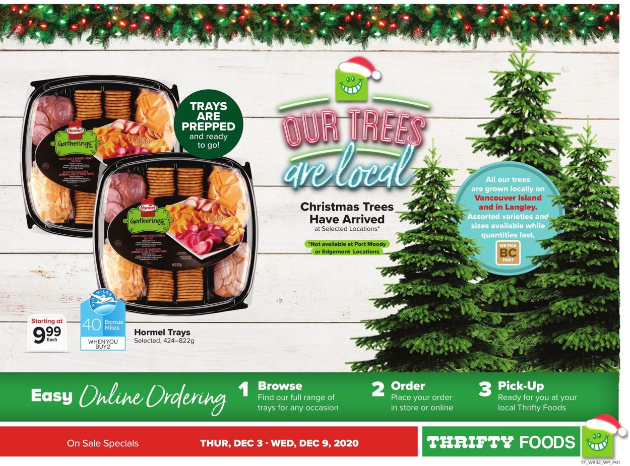 Thrifty Foods - Holiday 2020 Flyer - 12/03-12/09/2020