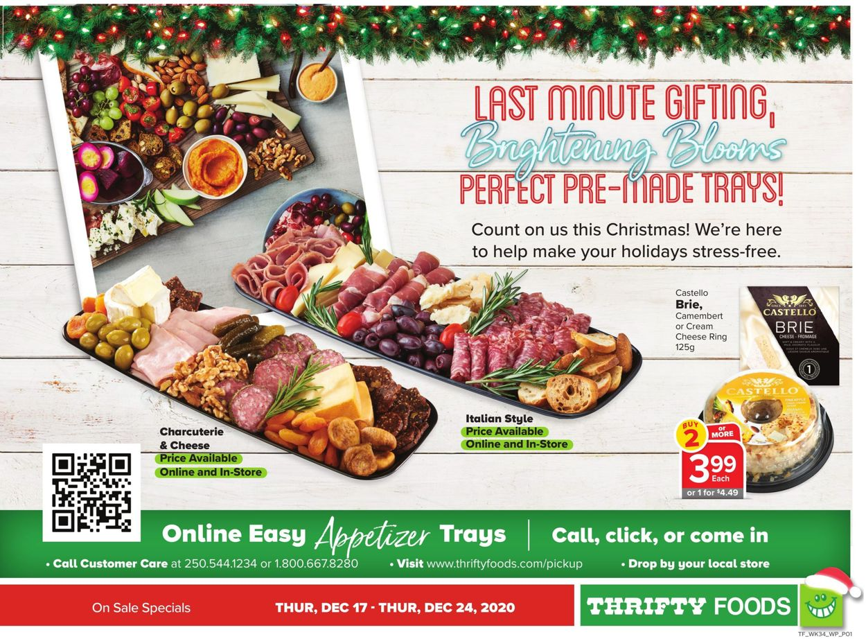 Thrifty Foods - Holiday 2020 Flyer - 12/17-12/24/2020