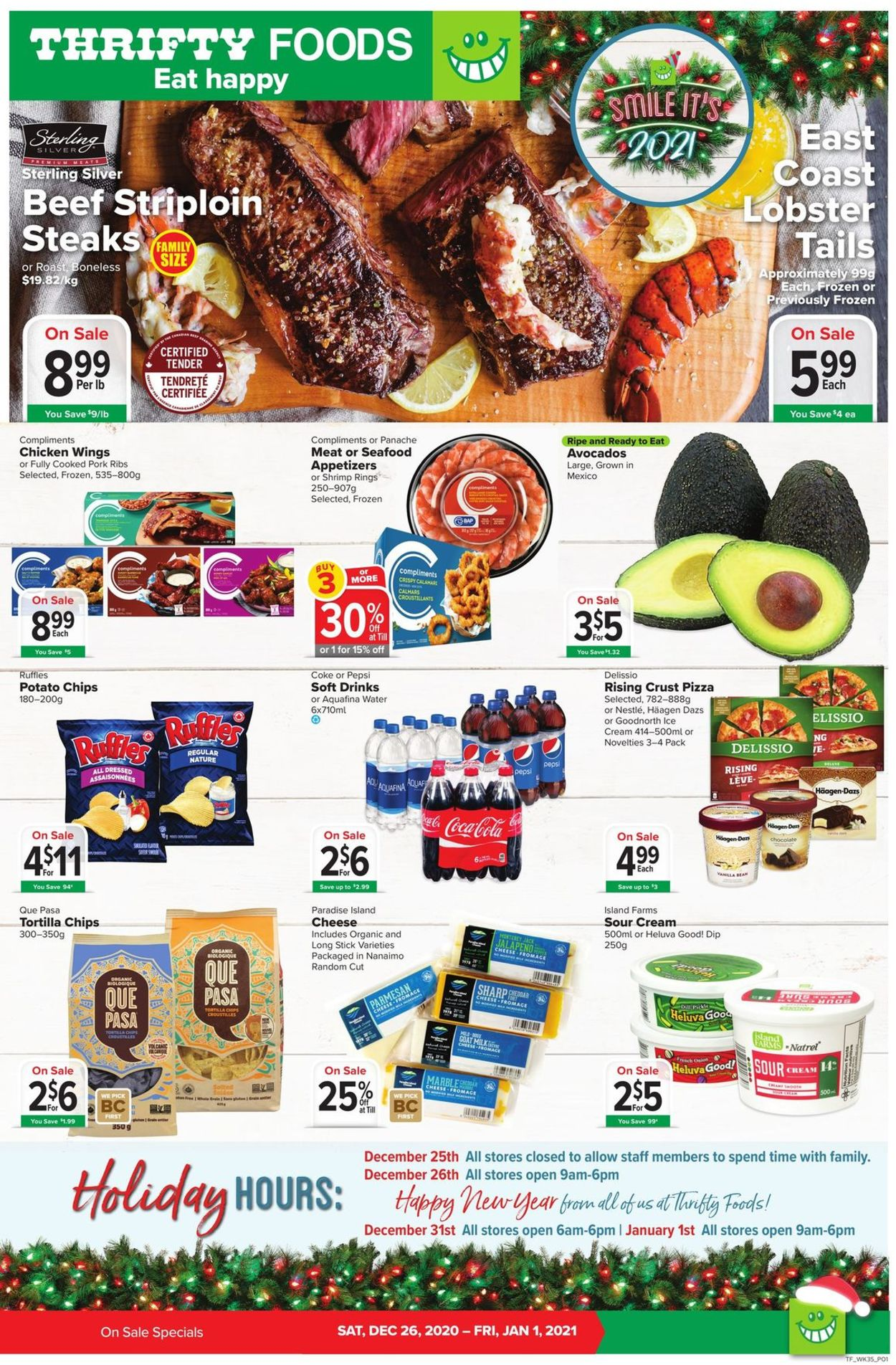 Thrifty Foods Flyer - 12/26-01/01/2021