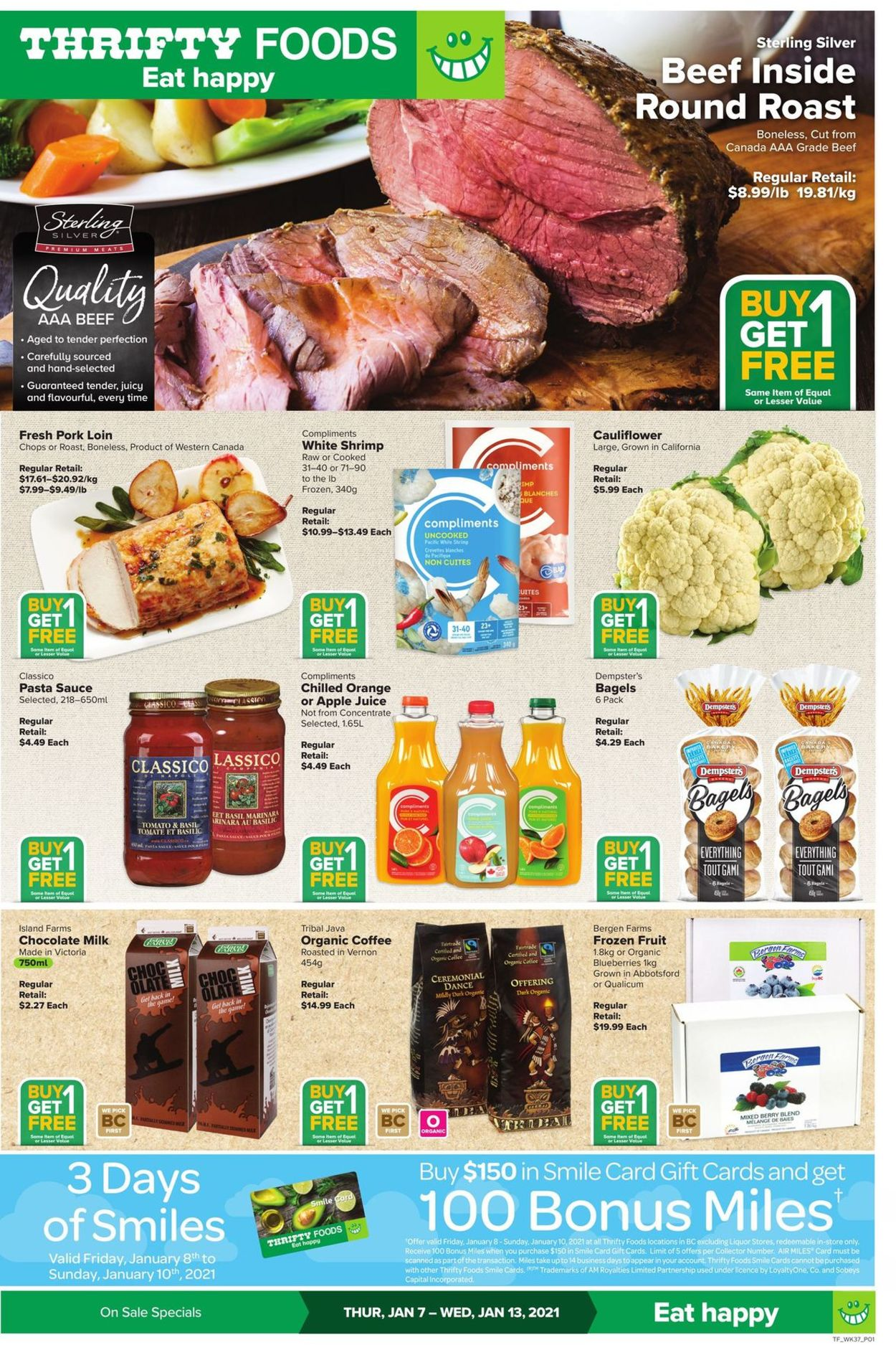 Thrifty Foods Flyer - 01/07-01/13/2021