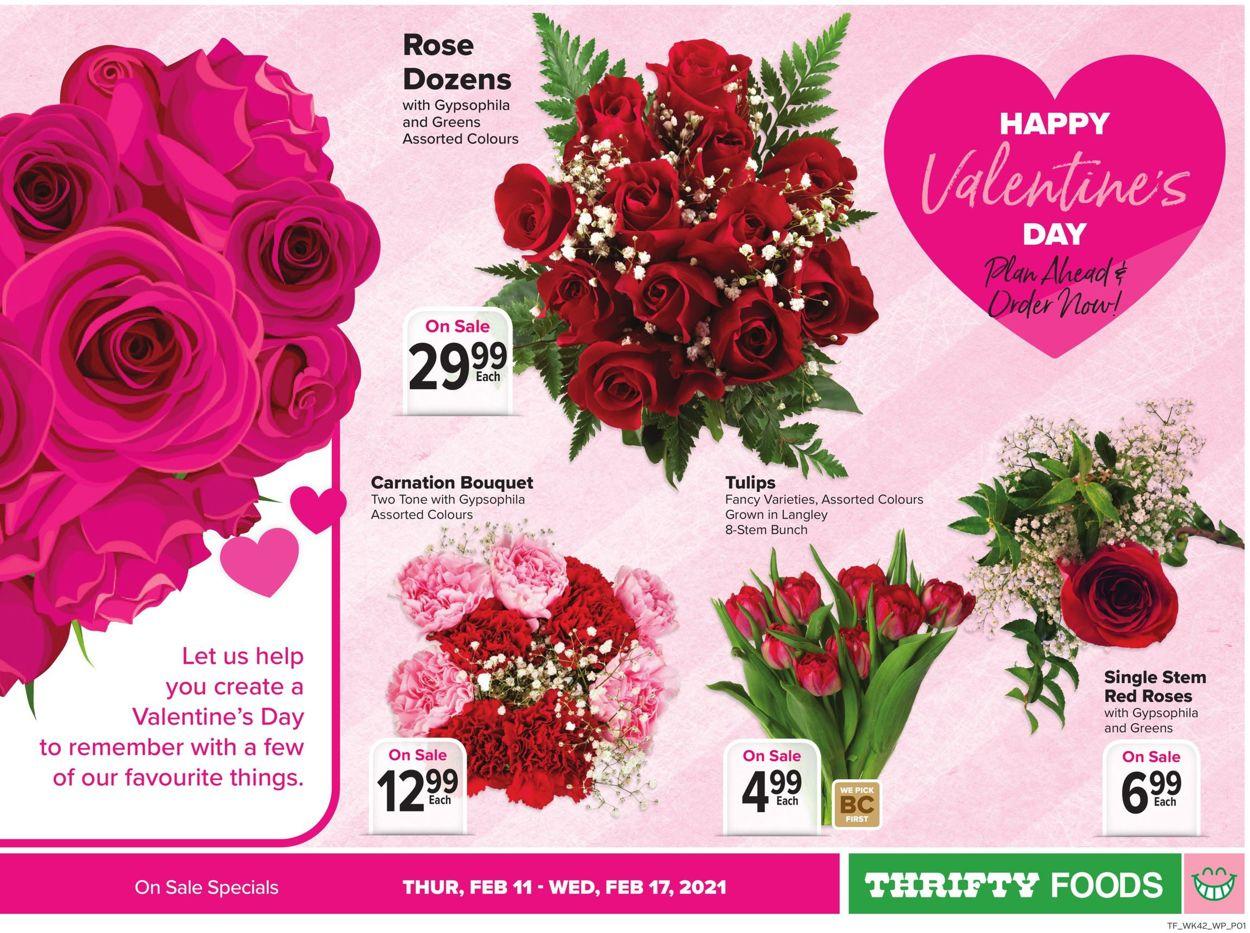 Thrifty Foods - Valentine's Day 2021 Flyer - 02/11-02/17/2021