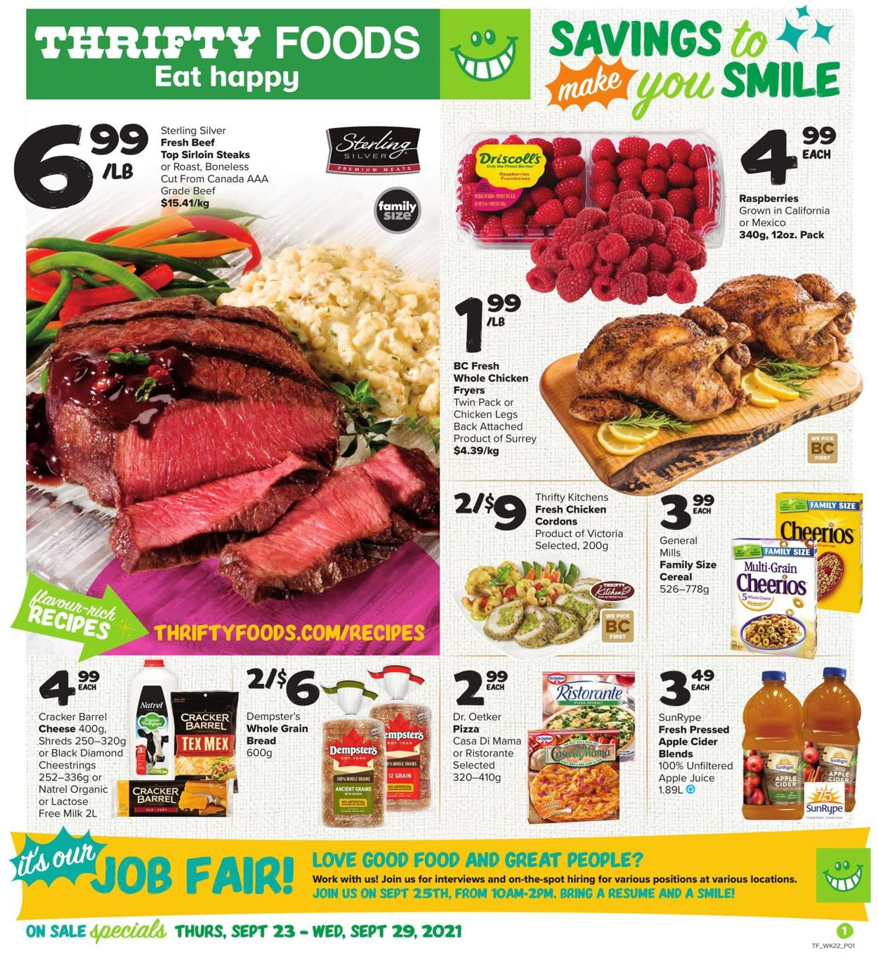 Thrifty Foods Flyer - 09/23-09/29/2021