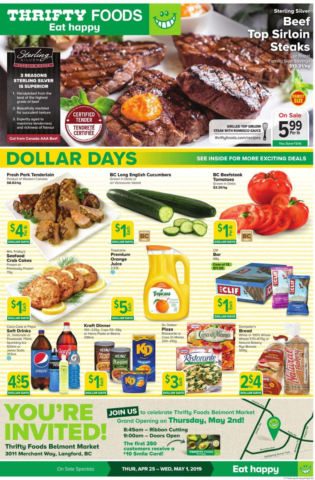 Thrifty Foods Flyer - 04/25-05/01/2019