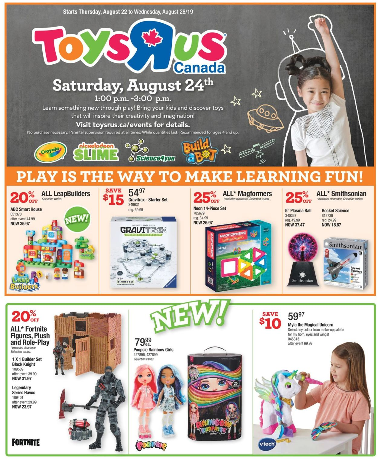 Toys''R''Us Flyer - 08/22-08/28/2019