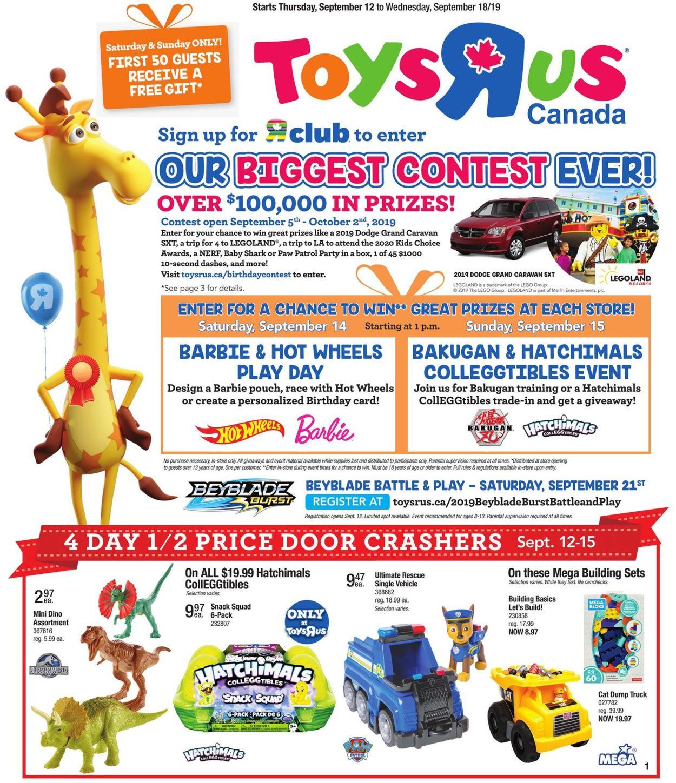 Toys''R''Us Flyer - 09/12-09/18/2019