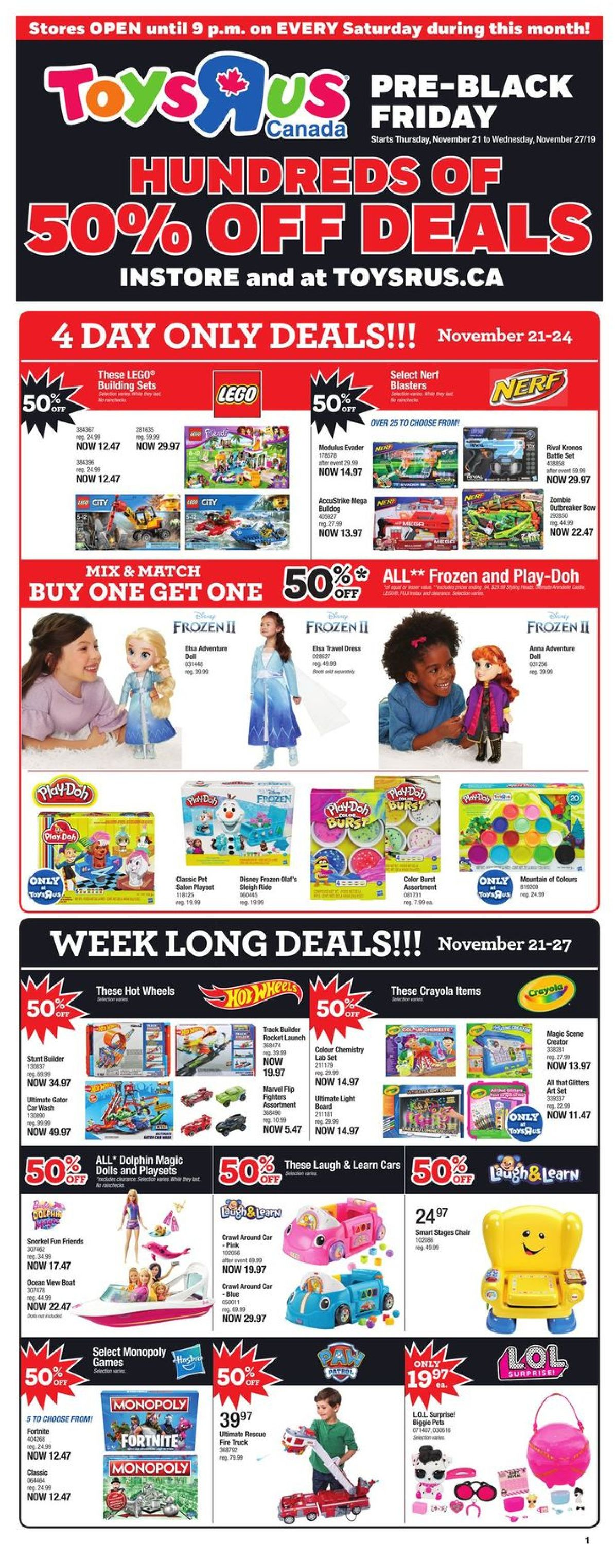 Toys''R''Us PRE-BLACK FRIDAY FLYER 2019