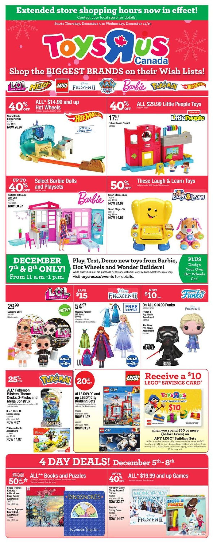 Toys''R''Us Flyer - 12/05-12/11/2019