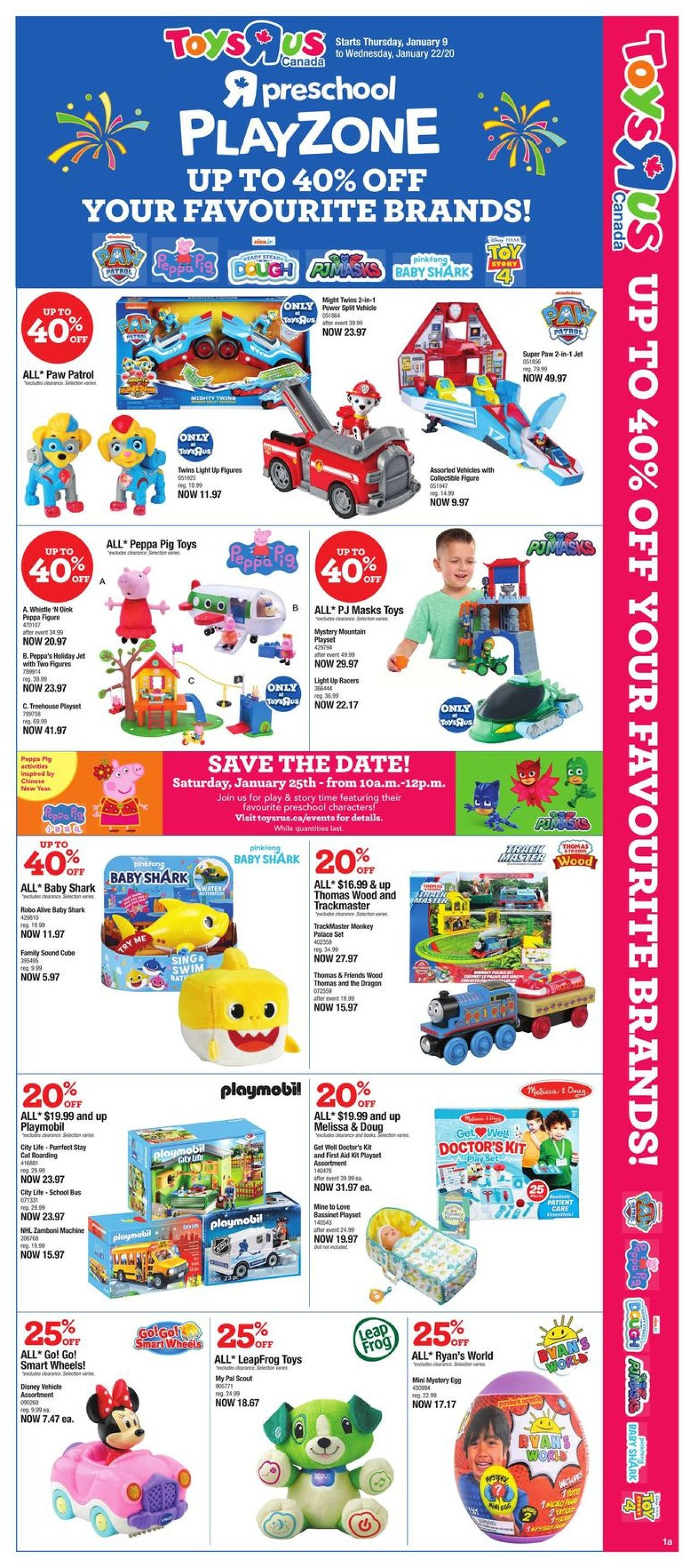 Toys''R''Us Flyer - 01/09-01/22/2020