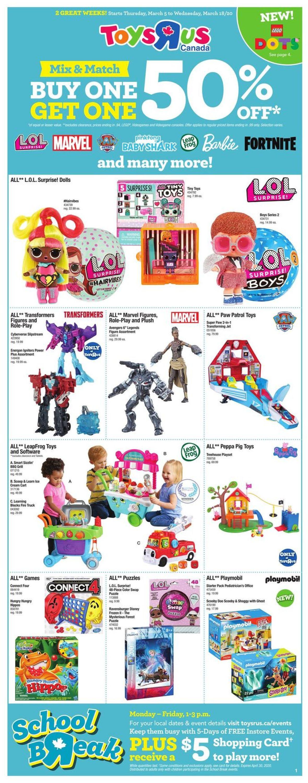 Toys''R''Us Flyer - 03/05-03/18/2020