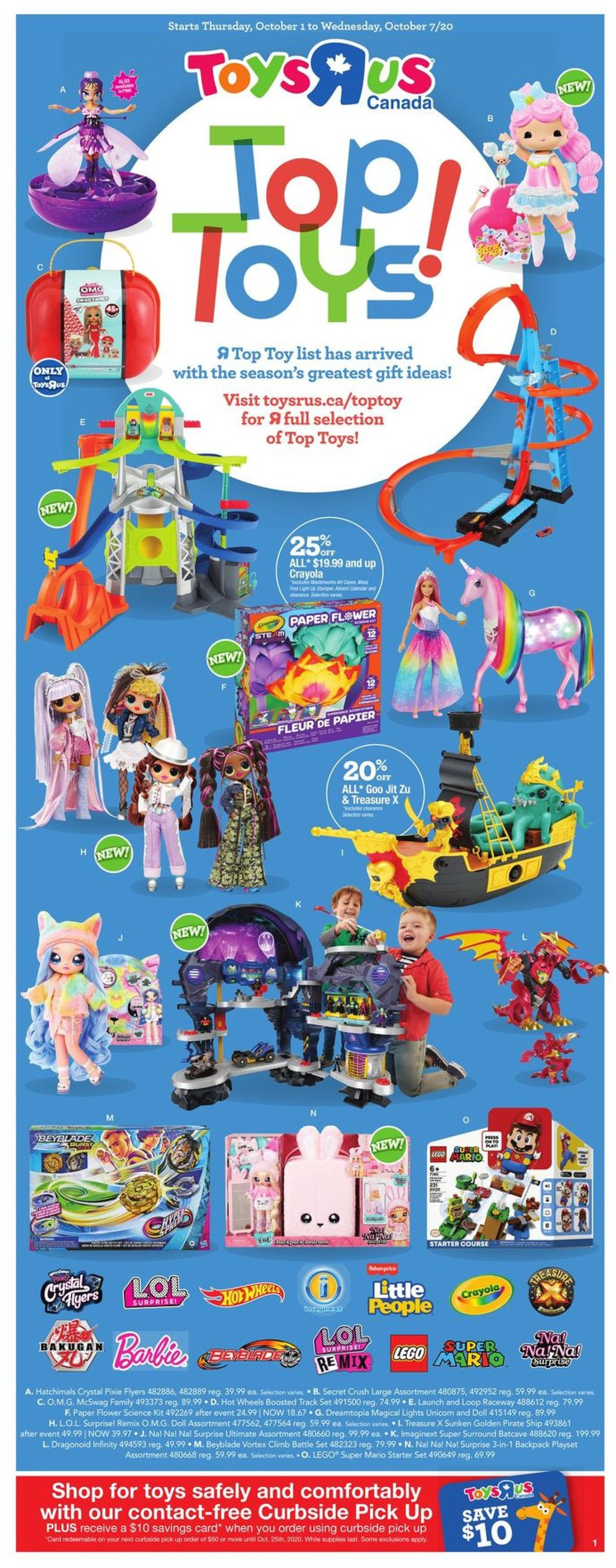 Toys''R''Us Flyer - 10/01-10/07/2020