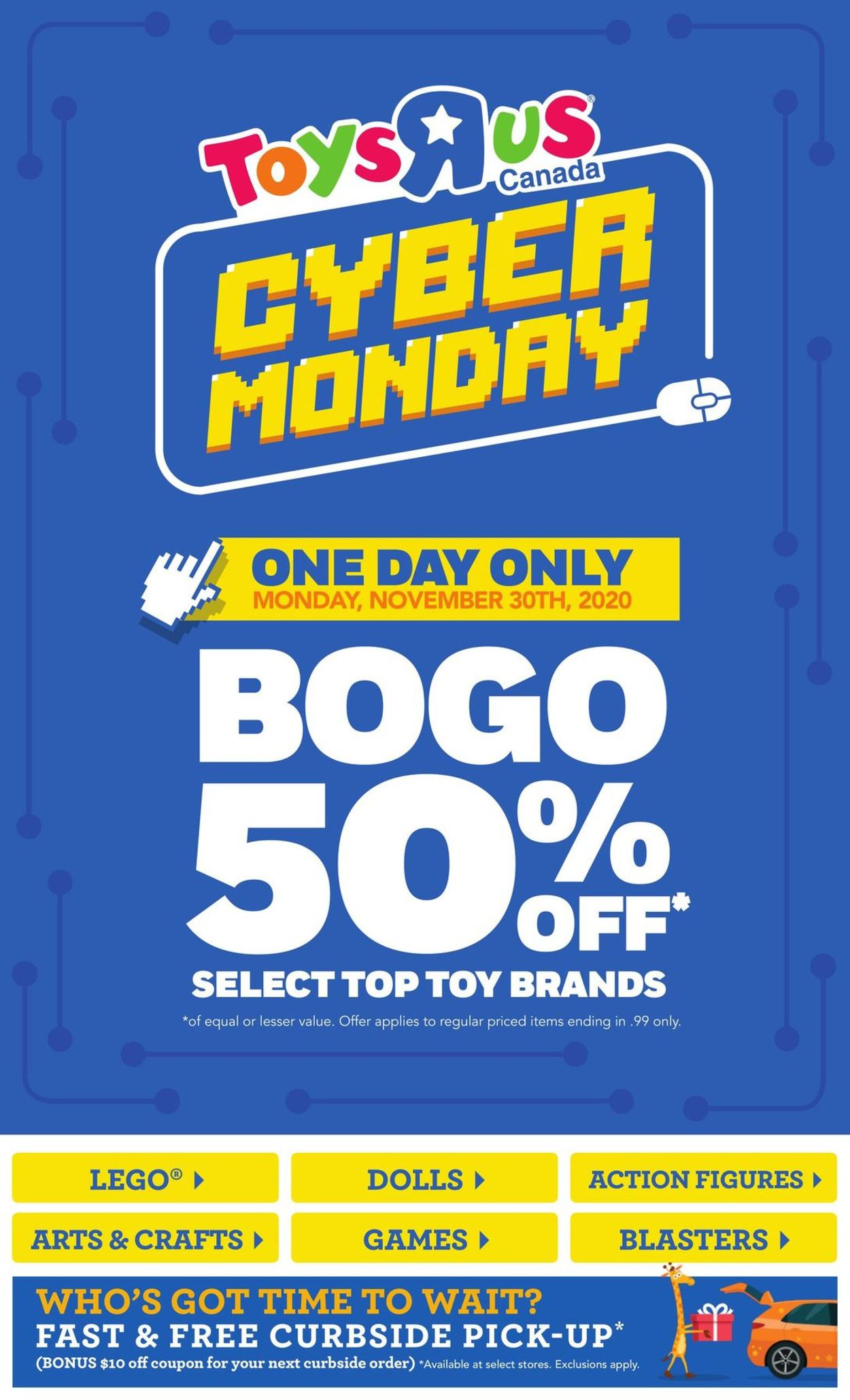 Toys''R''Us - Cyber Monday 2020 Flyer - 11/30-11/30/2020