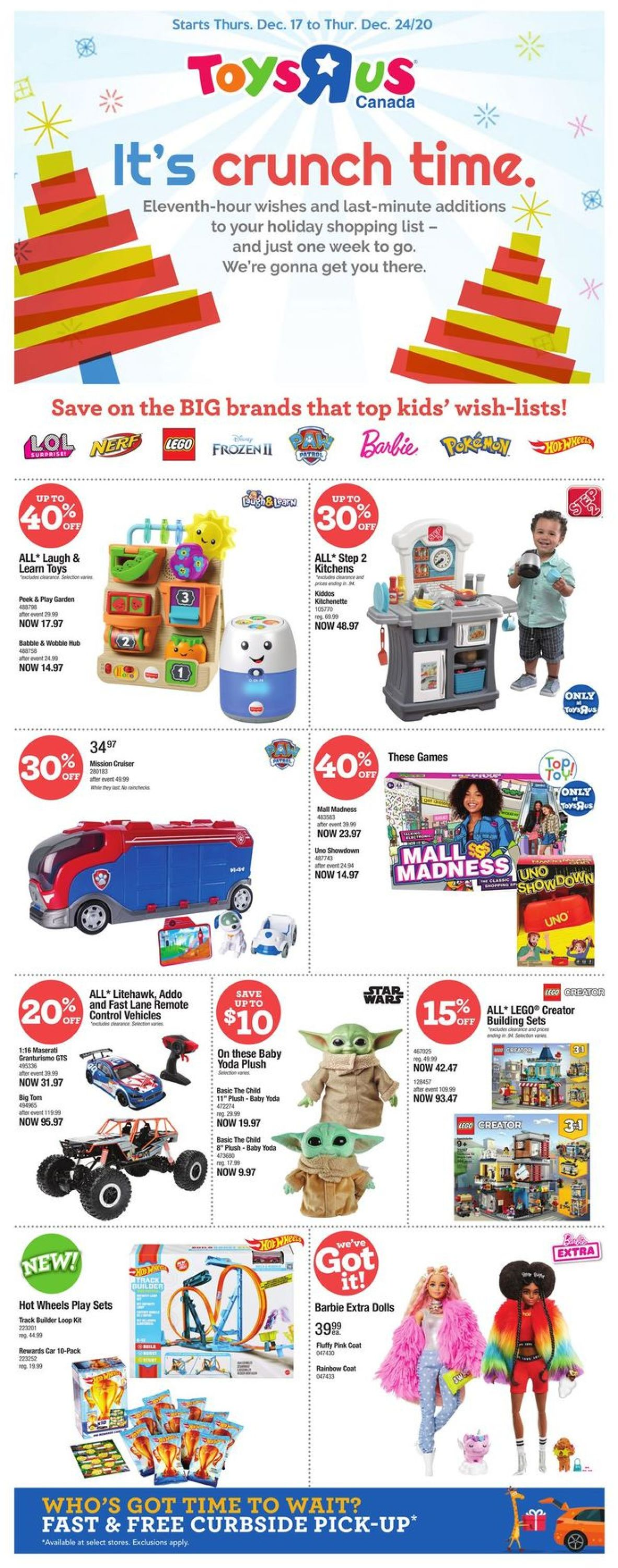 Toys''R''Us - Holiday 2020 Flyer - 12/17-12/24/2020
