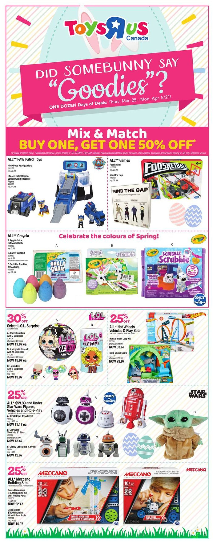 Toys''R''Us Flyer - 03/25-04/05/2021