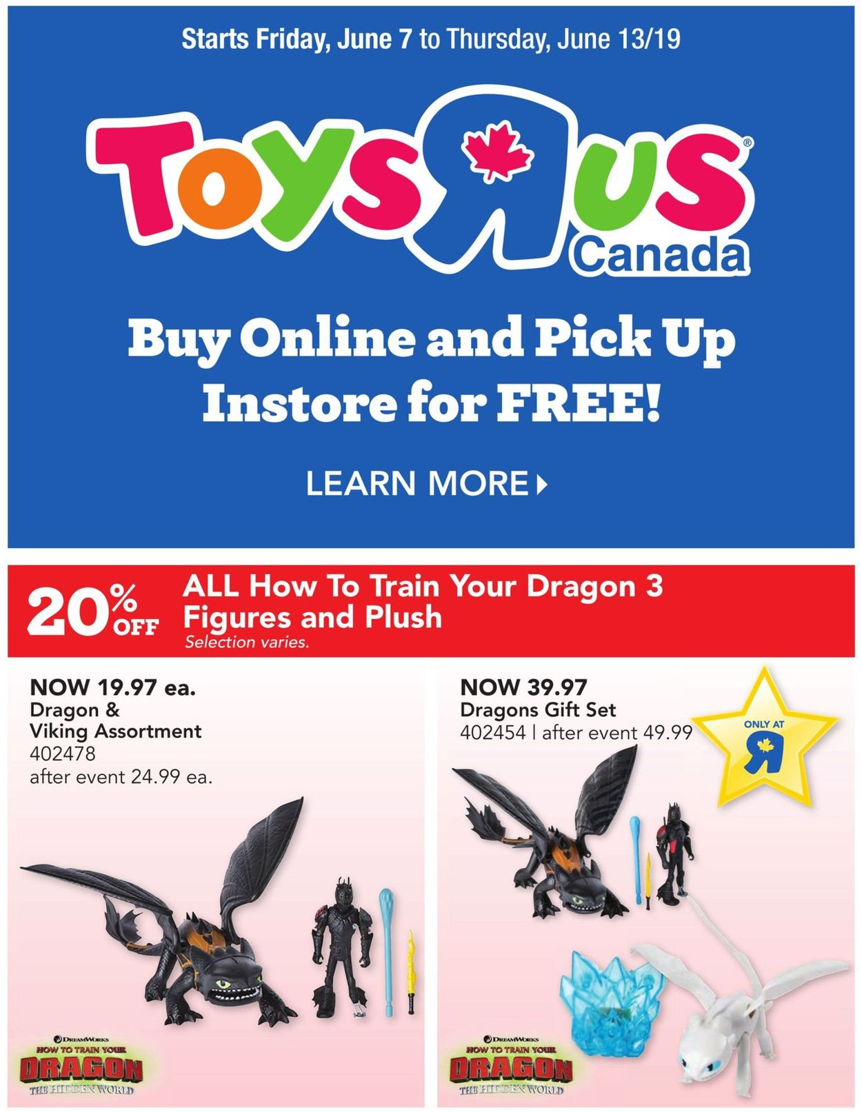 Toys''R''Us Flyer - 06/07-06/13/2019