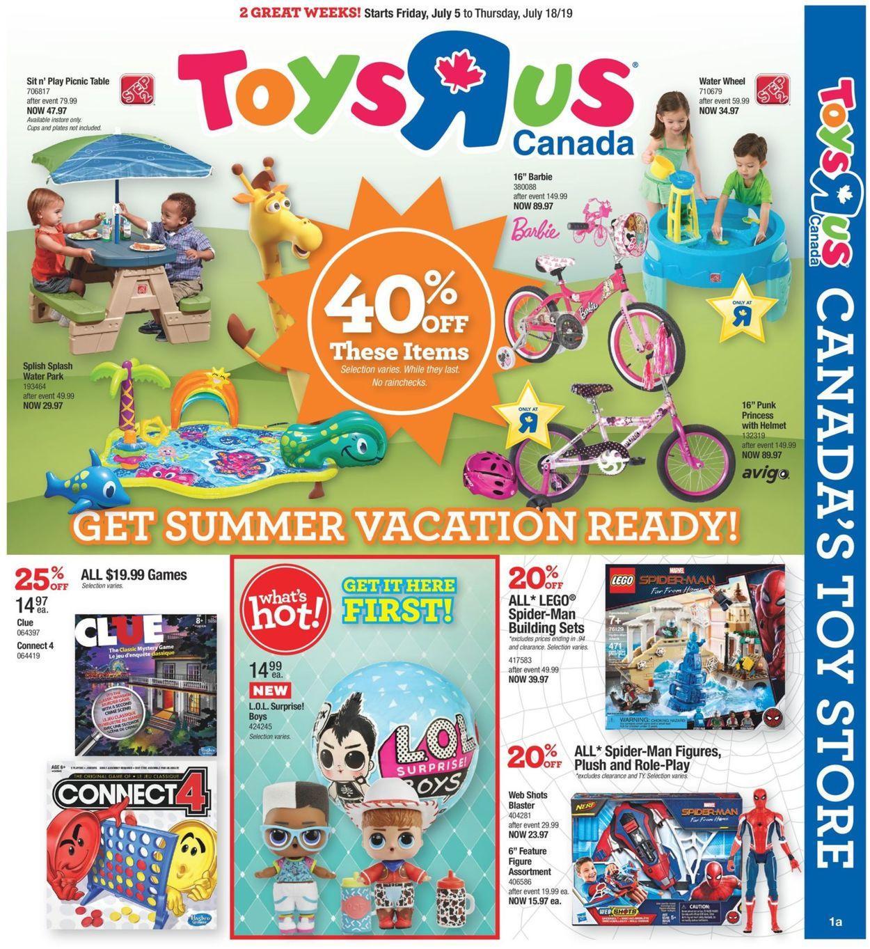 Toys''R''Us Flyer - 07/05-07/18/2019